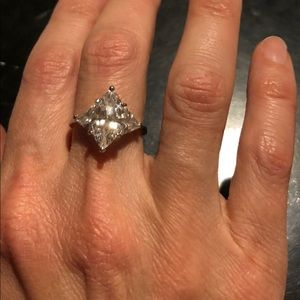 """New 18KGP """"RSC"""" Marquise CZ Ring Size 8"""